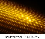 Orbs of Gold 3D - Fractal Design - stock photo