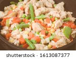 Roasted Fat Chicken Pieces Wit...