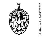 beer hop illustration on white... | Shutterstock .eps vector #1613091967