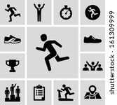running icons | Shutterstock .eps vector #161309999