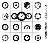 speedometers vector icons
