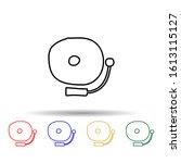 school bell sketch multi color...