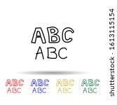alphabet sketch multi color...
