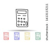 calculator sketch multi color...