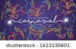 carnival 2020 rio de janeiro... | Shutterstock .eps vector #1613130601