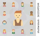 avatar of boy colored icon.... | Shutterstock . vector #1613149144