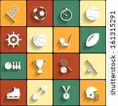 Set Of Vector Sport Icons In...
