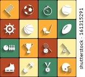 set of vector sport icons in... | Shutterstock .eps vector #161315291