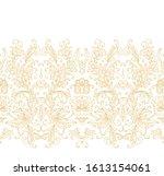 Golden Floral Border Ornament ...