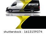 car decal wrap design vector | Shutterstock .eps vector #1613159374