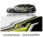 car decal wrap design vector   Shutterstock .eps vector #1613160904