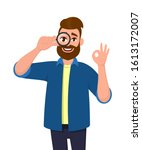 successful young man looking... | Shutterstock .eps vector #1613172007