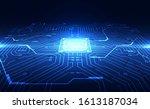 vector graphics. chip processor ... | Shutterstock .eps vector #1613187034