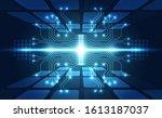 vector abstract futuristic... | Shutterstock .eps vector #1613187037