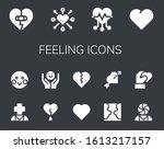 feeling icon set. 14 filled...   Shutterstock .eps vector #1613217157