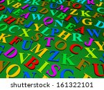 letters of the english alphabet.... | Shutterstock . vector #161322101