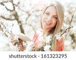 beautiful girl face portrait... | Shutterstock . vector #161323295