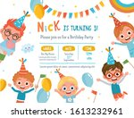 invitation card design with... | Shutterstock .eps vector #1613232961