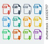vector file extensions icons... | Shutterstock .eps vector #161323757