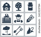 vector farming icons set  barn  ... | Shutterstock .eps vector #161323784