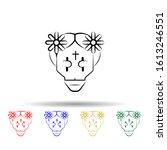 catrina multi color style icon. ...