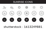 sunrise icons set. collection... | Shutterstock .eps vector #1613249881
