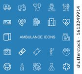 editable 22 ambulance icons for ... | Shutterstock .eps vector #1613249914