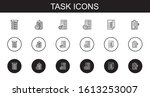 task icons set. collection of...