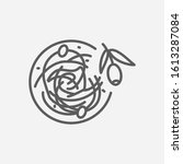 noodles icon line symbol....