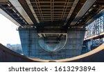 Concrete Pillars Under Steel...