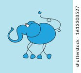 unusual blue elephant for kids | Shutterstock .eps vector #1613303527