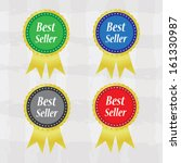 best seller colorful labels... | Shutterstock .eps vector #161330987