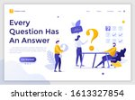 landing page template with...   Shutterstock .eps vector #1613327854