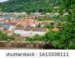 The beautiful ancient city of Heidelberg with Alte Brucke bridge, Germany