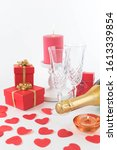 romantic holiday background ... | Shutterstock . vector #1613339854