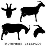 animal,black,farm,goat,head,horn,isolated,mammal,meat,milk,set,sheep,sign,silhouette,symbol