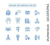 training and seminar icon set  | Shutterstock .eps vector #1613352961