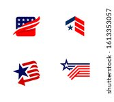 american patriotic symbols set...   Shutterstock .eps vector #1613353057