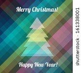 christmas tree  merry christmas ... | Shutterstock .eps vector #161338001