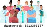 diverse group of doctors....   Shutterstock .eps vector #1613399167