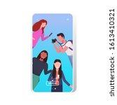 bloggers using digital camera...   Shutterstock .eps vector #1613410321