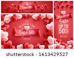 valentine's day sale 50  off... | Shutterstock .eps vector #1613429527