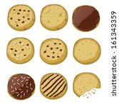 set of different cookies ... | Shutterstock .eps vector #161343359