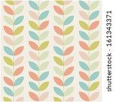 retro flower pattern background | Shutterstock .eps vector #161343371