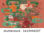 abstract geometric texture. mid ... | Shutterstock .eps vector #1613446207