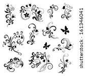 floral ornament elements...