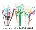 art abstract flowers .hand...   Shutterstock . vector #1613460484