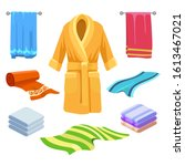 towel and bathrobe sketch.... | Shutterstock .eps vector #1613467021
