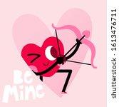 cute heart cartoon character... | Shutterstock .eps vector #1613476711