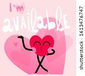 cute heart cartoon character... | Shutterstock .eps vector #1613476747